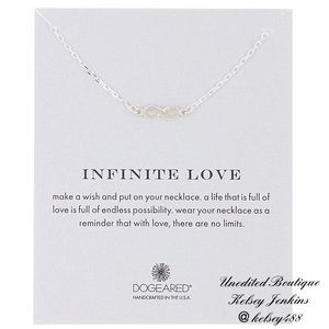 NWT - DOGEARED Infinity Love Necklace